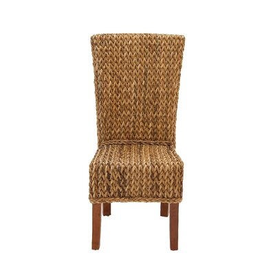 Mahogany Abaca Side Chair