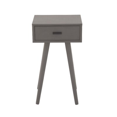 Wood End Table Finish: Matte Gray