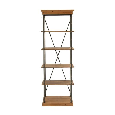 Metal and Wood 72 Etagere Bookcase