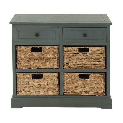 2 Drawer Accent Chest Finish: Blue Gray