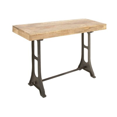 Metal Wood Console Table
