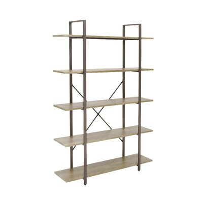 Metal and Wood 70 Etagere Bookcase
