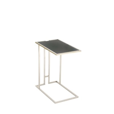 Metal and Glass End Table