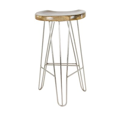 30 Bar Stool Finish: Light Brown/Silver