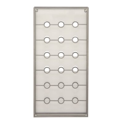 18 Bottle Wall Mounted Wine Bottle Rack Finish: Gray