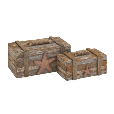 2 Piece Wood Box Set
