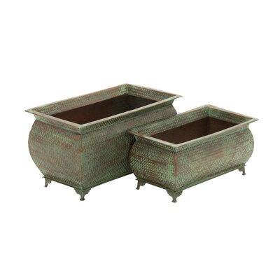 2-Piece Iron Planter Box Set