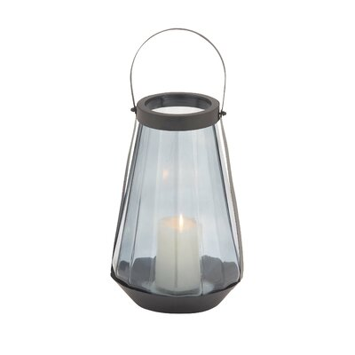 Glass and Metal Lantern Size: 18 H x 18 W x 18 D