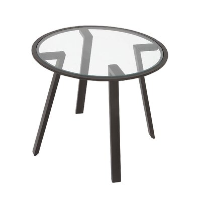 Metal and Mirror End Table
