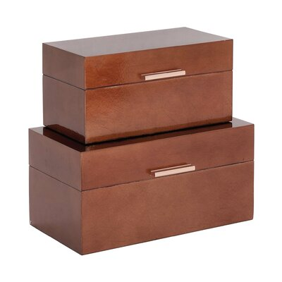 Wood 2 Piece Box Set