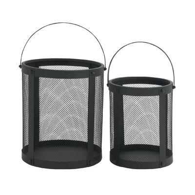 2 Piece Metal Lantern Set
