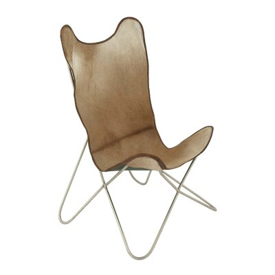 Metal Hide Leather Side Chair