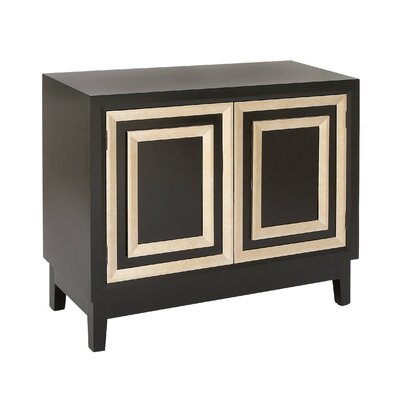 2 Door Wood Accent Cabinet