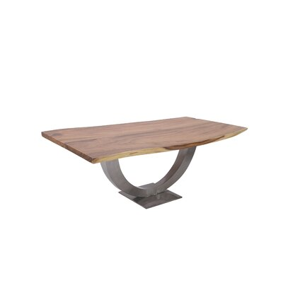 Stainless Steel/Teak Dinning Table