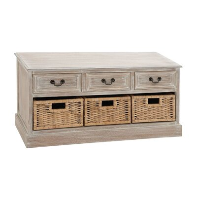 3 Drawer Wood Low Accent Chest