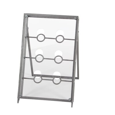 6 Bottle Tabletop Wine Bottle Rack Finish: Gray