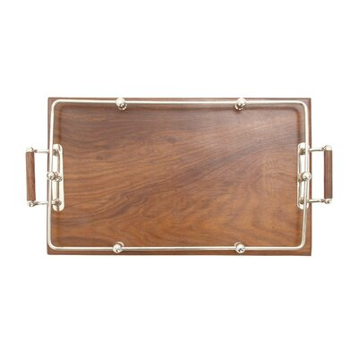 Wood Stainless Steel Tray