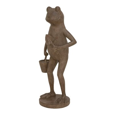 Polystone Frog Figurine
