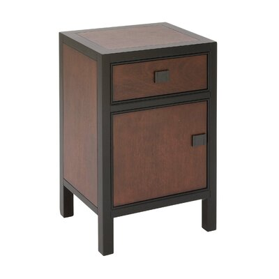 Wood 1 Drawer Nightstand