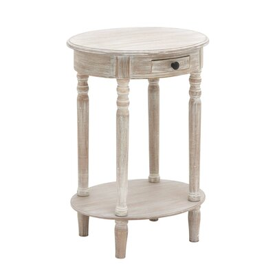 Wood Oval End Table