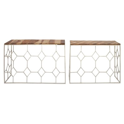 Stainless Steel/Wood Console Table