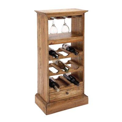 Wood 9 Bottle Floor Wine Bottle Rack