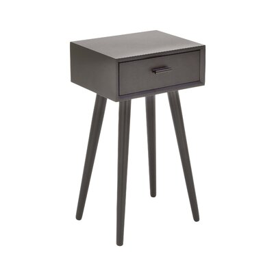 Wood End Table Finish: Matte Black