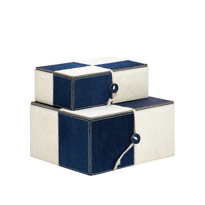 Wood Leather 2 Piece Box Set 95035