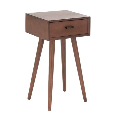 Wood End Table Finish: Matte Brown