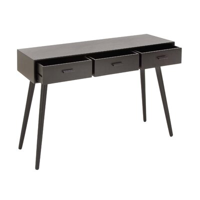 Wood Console Table Color: Mattle Black