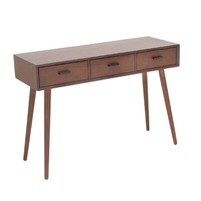Wood Console Table Color: Mattle Brown