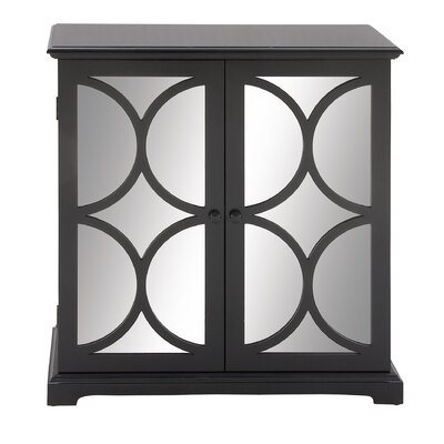 2 Door Cabinet Finish: Black