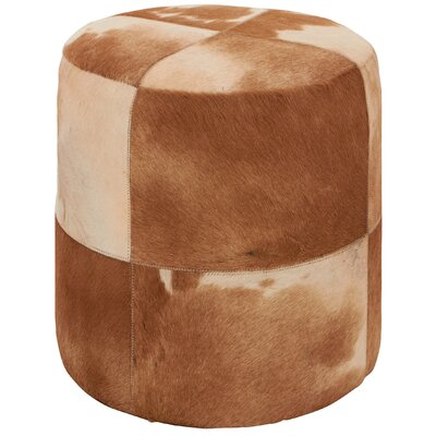 Ottoman Upholstery Color: Brown/Ivory