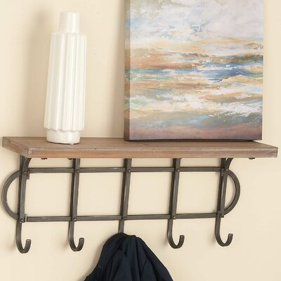 Wood/Metal Floating Shelf
