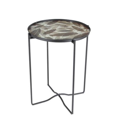 Metal/Glass End Table
