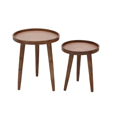 2 Piece Nesting Tables Color: Copper