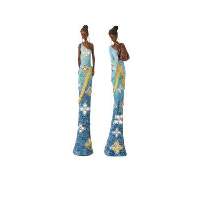 2 Piece African Lady Figurine Set (Set of 2) 44286