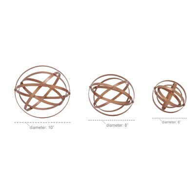 3 Piece Folding Orbs Sculpture Set