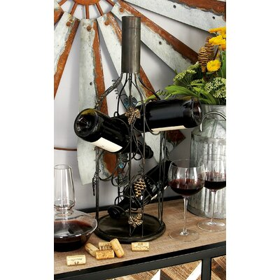Metal 4 Bottle Tabletop Wine Bottle Rack
