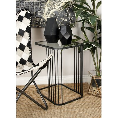 Metal and Glass 2 Piece Nesting Tables