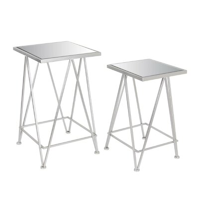 Metal End Table Table Base Color: Silver