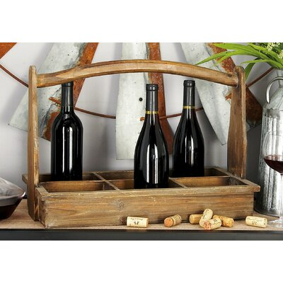 Wood 6 Bottle Tabletop Wine Bottle Rack