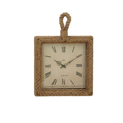 Rope Wall Clock Size: 27