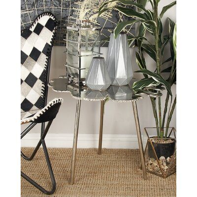Aluminum End Table Color: Silver
