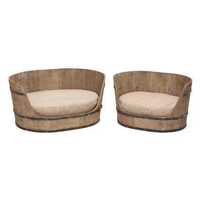 Wood and Fabric Dog Bed