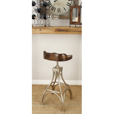 Adjustable Height Bar Stool Finish: Dark Brown