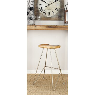 32 Bar Stool Seat Finish: Oak Brown