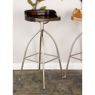 33 Bar Stool Upholstery: Mahogany