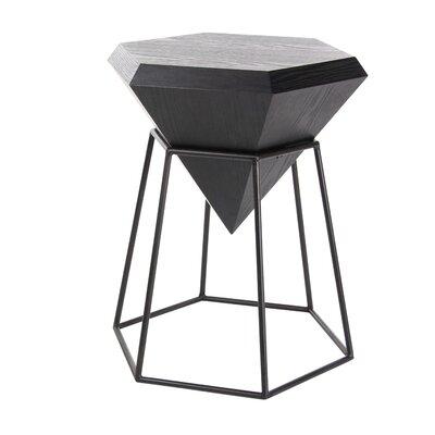 Metal Diamond End Table Table Top Color: Matte Black