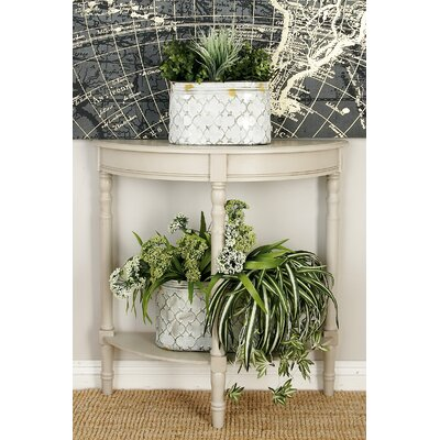 Wood Half Round Console Table 96328